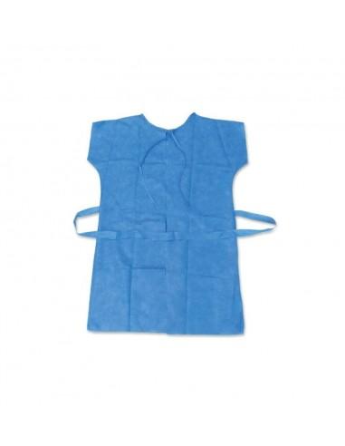 Bata sin manga azul 45 gr